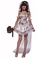Costumes Angel & Devil / Zombie / Vampires Halloween / Christmas / Carnival White / Gray Vintage Dress / Gloves / Hats