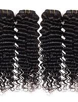 Brazilian Virgin Deep Wave Hair Weaving Natural Black 8-26 inches 3PCS/Lot 100g/pcs Raw Unprocessed Hair Weft
