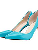 Mujer-Tacón Stiletto-Tacones / Puntiagudos-Tacones-Oficina y Trabajo / Casual / Fiesta y Noche-Semicuero-Negro / Azul / Amarillo / Rosa /