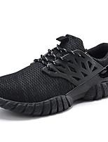 Hombre-Tacón Plano-Confort-Zapatillas de deporte-Exterior / Casual / Deporte-Tul-Negro / Azul / Amarillo / Rojo