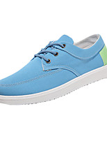 Men's Sneakers Spring / Fall Comfort Canvas Casual Flat Heel Lace-up Blue / Gray Walking