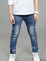 Boy's Casual/Daily Solid Pants / JeansCotton Fall Blue