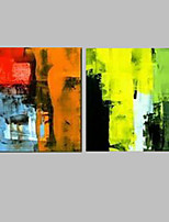 Modern Abstract 2 Sets Paitnings Handpainted Read and Green Color 60x60x2 Cm Home Decoe For Home Kitchen