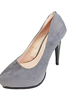 Women's Heels Fleece Office & Career / Casual Stiletto Heel Others Black / Pink / Purple / Red / Gray / Fuchsia Others