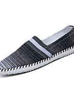 Men's Loafers & Slip-Ons Spring / Summer Comfort Canvas Casual Flat Heel Black / Blue / Brown Walking