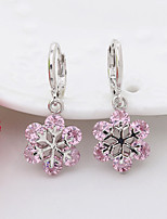 Earring Flower,Jewelry 1 pair Fashionable Alloy White / Blue / Purple / Pink Daily / Casual
