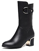 Women's Boots Summer Fashion Boots PU Casual Chunky Heel Others Black Others