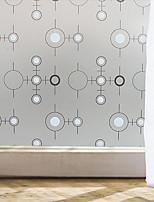 Window Film Window Decals Style Black And White Circle Matte PVC Window Film - (100 x 45)cm