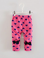 FanXingBeiYiGirl's Casual/Daily Print Pants / Leggings,Cotton Spring / Fall Pink / Red