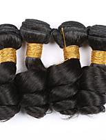 4 Pièces Ondulation Lâche Tissages de cheveux humains Cheveux Brésiliens Tissages de cheveux humains Ondulation Lâche