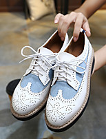 Women's Sneakers Spring / Fall Flats PU Outdoor / Casual Flat Heel Others Black / White Others