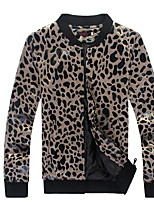 Men'S Fashion And Personality Trend Coat The New Leopard Bright Surface Collar Casual Jacket