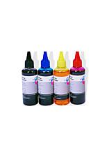 HP Canon чернила 100 мл, пачка 6boxes, каждая коробка разные цвета, черный, красный, желтый, синий, светло-серый, светло-красный