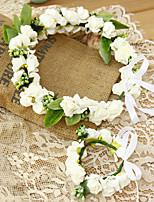 Bambina Schiuma Copricapo-Matrimonio / Occasioni speciali Fasce 2 pezzi Rosa / Bianco Cerchio 19