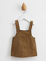 Girl's Casual/Daily Solid Dress / Skirt,Cotton Winter / Spring / Fall Brown