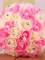 Wedding Flowers Round Roses Bouquets Wedding Polyester 9.06