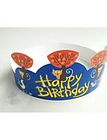 Partido Vajilla Accesorios para Pasteles Papel duro Cumpleaños Tema Floral Other Sin personalizar Papel duro Amarillo / Azul100Piezas /