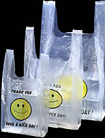 Pe Breakfast Vest Bag Smiley Bags Supermarket Shopping Bags Packing Gift Bags Spot Wholesale Shipping Two Packs A Box
