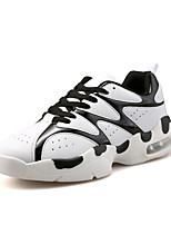 Unisex Sneakers Spring / Fall Comfort Tulle Casual Flat Heel Black / Black and Red / Black and White Walking