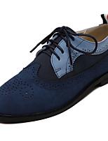 Синий-Женский-На каждый день-Замша-На плоской подошве-Удобная обувь / С круглым носком-Кеды
