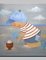 Hand Painted Modern Cartoon Oil Paintings On Canvas Wall Art Pictures With Stretched Frame Ready To Hang 80x80cm