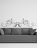 AYA™ DIY Wall Stickers Wall Decals, Flower Rattan Type PVC Panel Wall Stickers 26*120cm