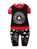 Boy's Casual/Daily Print Clothing Set,Cotton Fall Black / Red / White