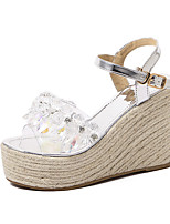 Women's Sandals Summer Sandals / Open Toe PU Casual Wedge Heel Others Silver Others
