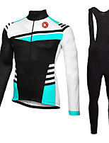 KEIYUEM®Spring/Summer/Autumn Long Sleeve Cycling Jersey+long Bib Tights Ropa Ciclismo Cycling Clothing Suits #L60