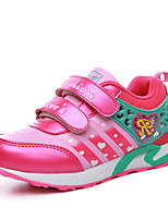 Girl's Sneakers Spring / Fall Flats PU Outdoor / Athletic / Casual Flat Heel Magic Tape Purple / Peach / Coral Sneaker