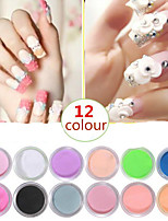 12 Color 3D Crystal Powder Coloured Drawing or Pattern