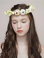MISS DIVA Women's Tulle Headpiece-Casual Headbands 1 Piece Green Flower 46