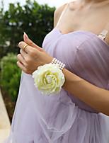 Bouquets de Noiva Atado à Mão Rosas / Lírios Buquê de Pulso Casamento / Festa / noite Cetim / Tule / Renda 2.36