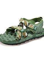 Zapatos de Hombre-Sandalias-Exterior-Sarga-Negro / Azul / Verde Claro