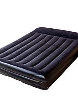 / Compression / Rectangular PVC / Flannel Air Mattress Dark Blue / Purple Air Mattress