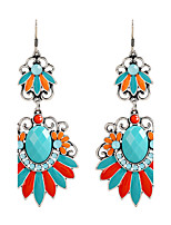 Fine Jewelry European Style High-Grade Charms Fashion Turquoise Zinc Alloy Earrings