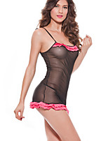 Women Ultra Sexy Nightwear,Sexy Jacquard-Thin Spandex Black Women's