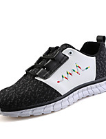 Men's Sneakers Spring / Fall Comfort Tulle Casual / Athletic Flat Heel Lace-up / Slip-on Black / Red / Gray Sneaker