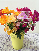 1 1 Филиал Полиэстер / Пластик Пионы / Другое Букеты на стол Искусственные Цветы 14.96Inch/38cm