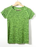 Running T-shirt / Sweatshirt Women's Short Sleeve Breathable / Quick Dry / Sweat-wicking / Compression Nylon