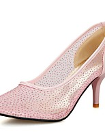 Women's Heels Summer / Fall Heels / Pointed Toe PU Office & Career / Casual Cone Heel Sequin Black / Pink / White