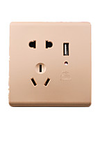 Matsumoto Five-Hole Socket Usb Socket Panel UsbUSB Rechargeable Socket Intelligent Socket