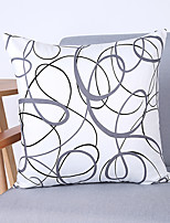 Minimalist Plain Solid Color Chaos Circle Cotton Pillow Cover Sofa Cushions Bay Window Lumbar Pillow