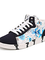 Women's Flats Spring / Fall Comfort / Round Toe PU Casual Flat Heel Others / Lace-up Black / Blue / White Others