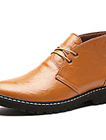 Men's Boots Spring / Fall Combat Boots PU Casual Flat Heel  Black / Brown / Burgundy Others