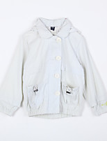 Girl's Casual/Daily Solid Blouse / Trench CoatCotton Fall White