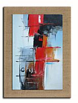 Oil Painting Modern Abstract  Red And White Hand Painted Natural linen with Stretched Fram