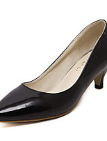 Women's Pull-on Pointed Closed Toe Kitten-Heels PU Solid Pumps-Shoes