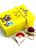 Bijoux Inspiré par Pocket Little Monster PIKA PIKA Manga Accessoires de Cosplay Colliers Broche Rouge Jaune Bleu Alliage Masculin Féminin