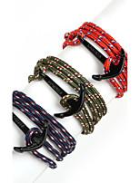 Beadia 1Pc Black Anchor Retro Multilayer Risers Bracelet